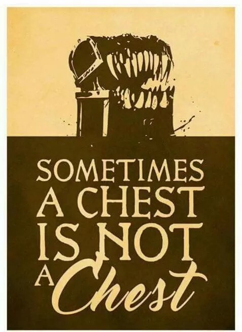 d&d meme sometimes a chest is not a chest