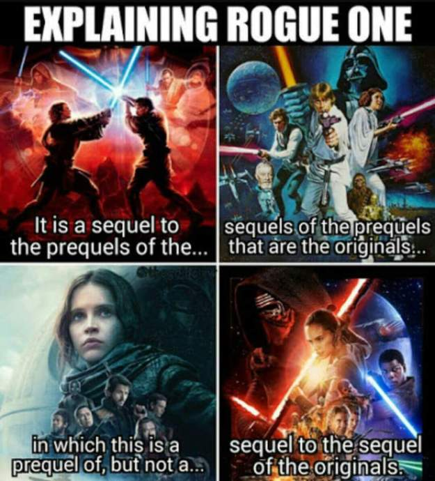 geek meme explaining rogue one