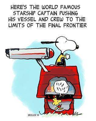 geek meme Star Trek Snoopy