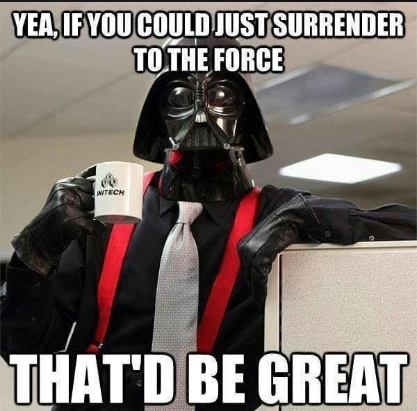 geek meme darth vader if you could just join the dark side