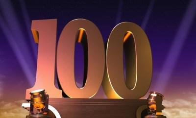 100 big numbers celebration