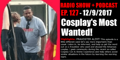 shane plays podcast title 12-9-2017 cosplays most wanted