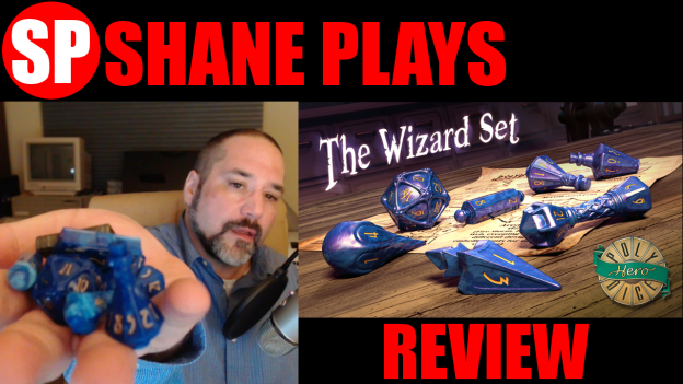 shane plays polyhero dice wizard set review thumbnail