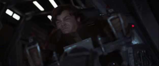star wars solo trailer han straining at yoke