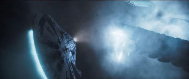 star wars solo trailer millennium falcon and tentacle no mandibles on falcon