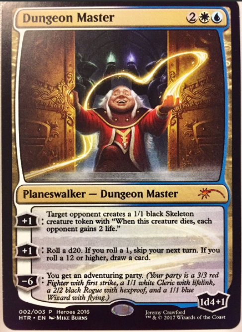 d&d meme dungeon master magic card