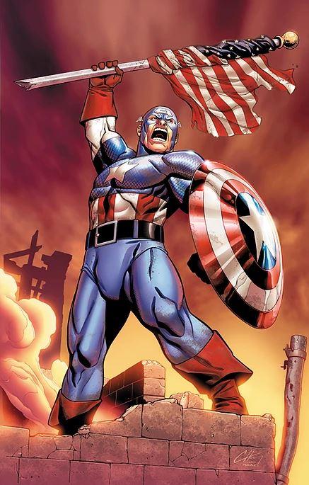 captain america colored by Brett Smith