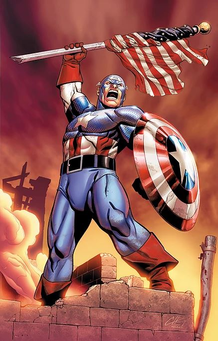 captain america colored by Brett Smith