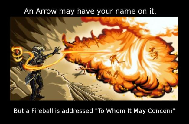 d&d meme a fireball is addressed to whom it may concern