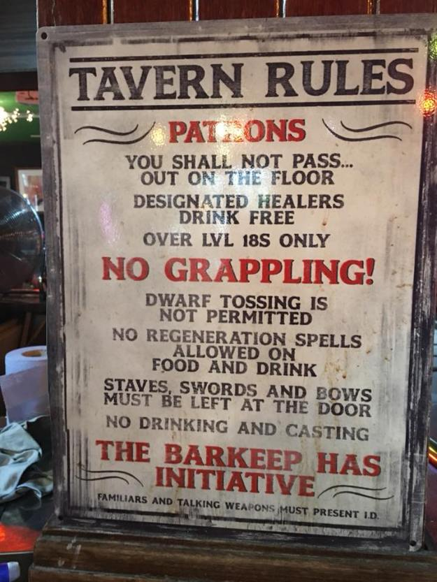 d&d meme tavern rules