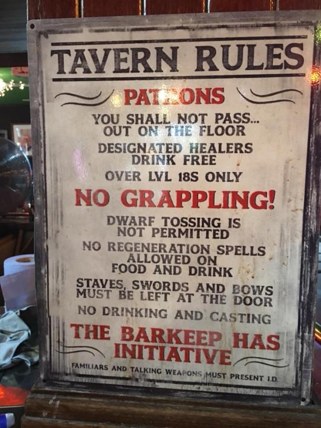 d&d meme tavern rules