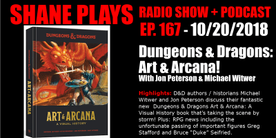 Dungeons & Dragons Art & Arcana with Jon Peterson & Michael Witwer shane plays podcast title 10-20-2018