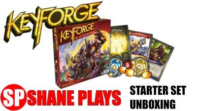 keyforge starter set unboxing first look unique deck game
