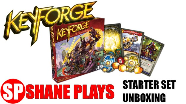 keyforge starter set unboxing first look unique deck game