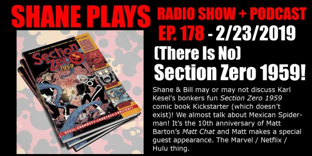 section zero 1959 comic books