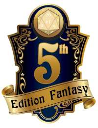 5th Edition Fantasy Compatible Logo Fat Dragon Games