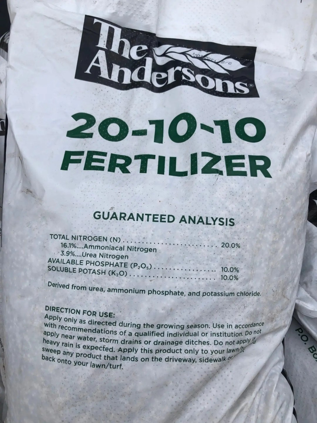 Fertilizer Shaner Avenue Nursery