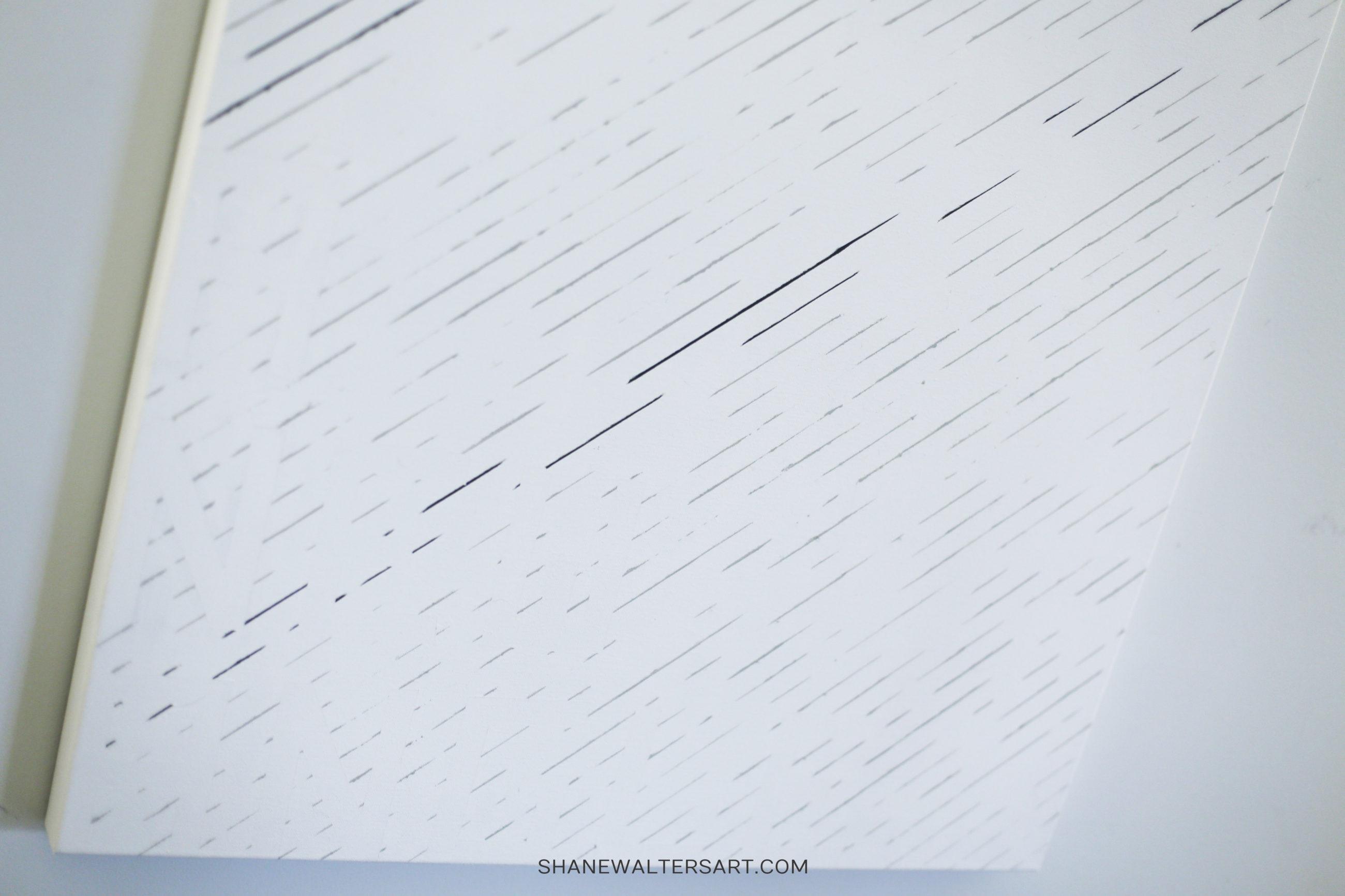 white modern minimalist painting