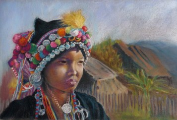 Akha Bride Painting
