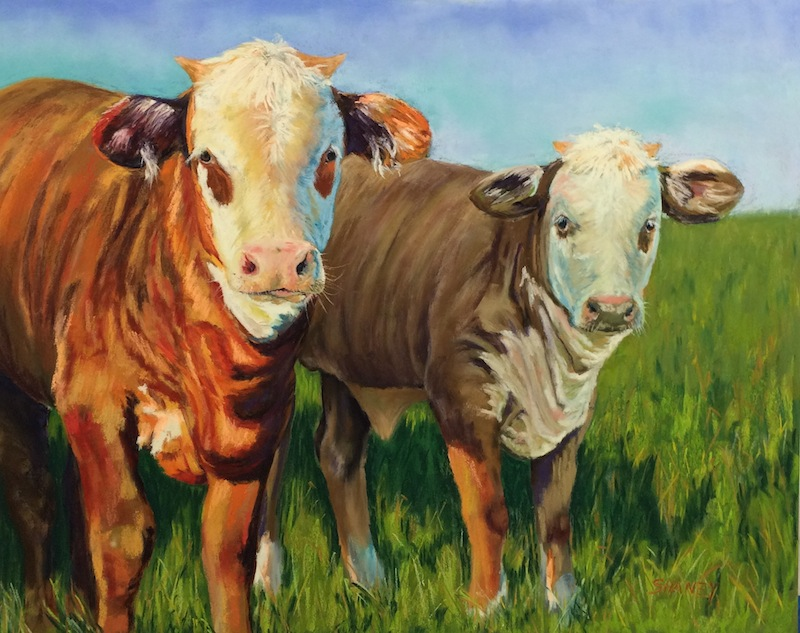 Western style cow artwork