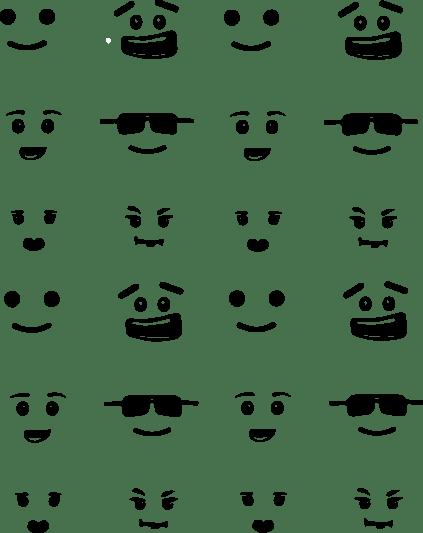 Small Lego faces