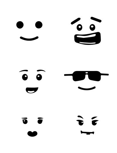 Large lego faces