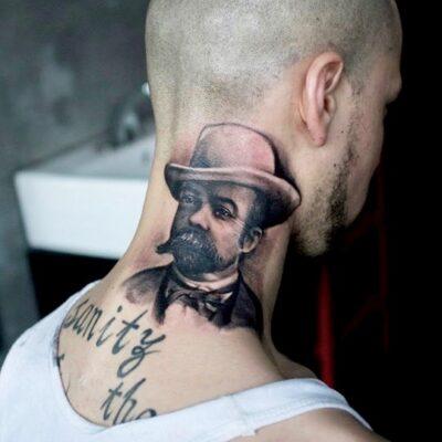 zhuo dan ting tattoo work 卓丹婷纹身作品写实肖像 1