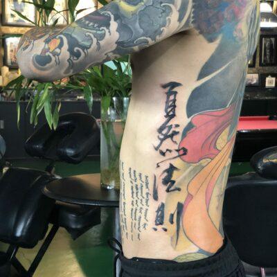 zhuo dan ting tattoo work 卓丹婷纹身作品 自然法则 1