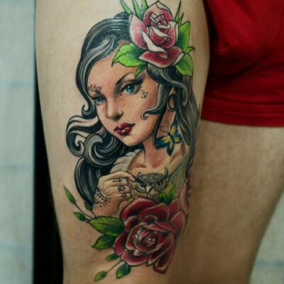 zhuo dan ting tattoo work 卓丹婷纹身作品 , 1