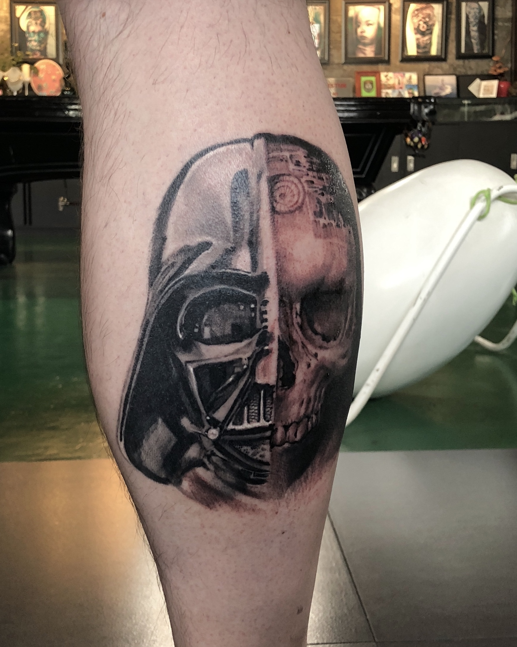 zhuo dan ting tattoo work 卓丹婷纹身作品 star war.