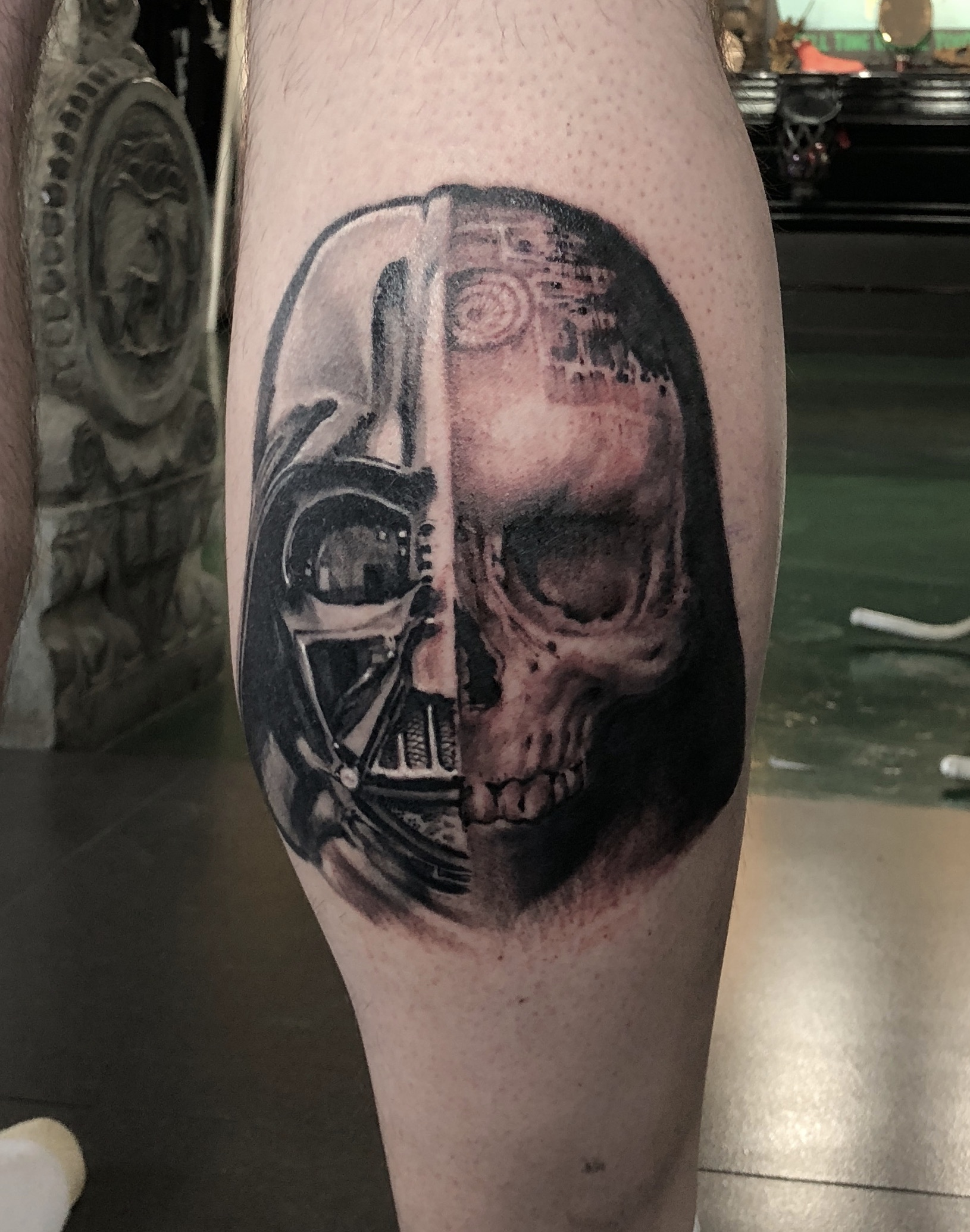 zhuo dan ting tattoo work 卓丹婷纹身作品 star war