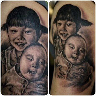 zhuo dan ting tattoo work portrait.肖像写实纹身,卓丹婷作品 1