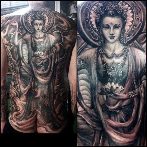 7.Zhuo-Dan-TING-Tattoo-work-中国飞天佛纹身
