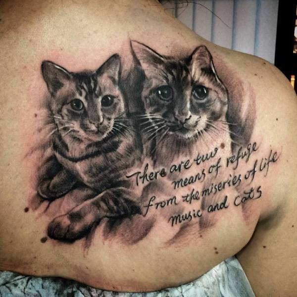 Zhuo-Dan-Ting-Tattoo-work-卓丹婷纹身作品猫肖像纹身