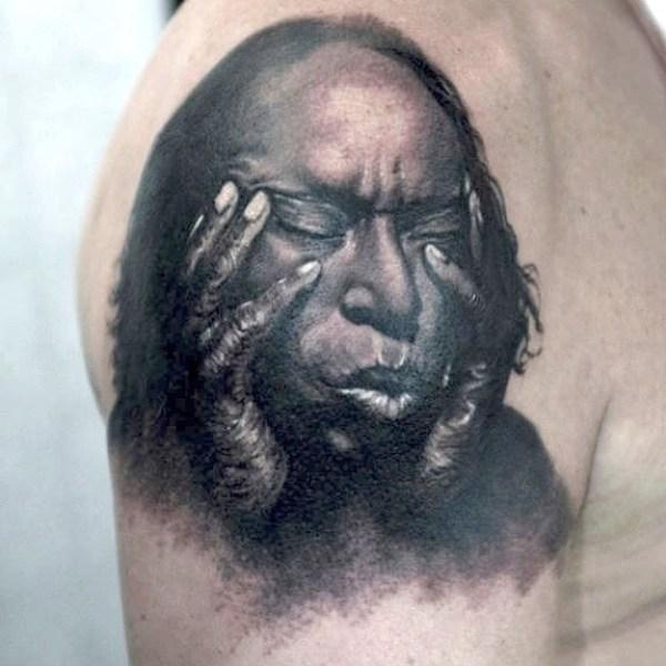 Zhuo-Dan-Ting-Tattoo-work-卓丹婷纹身作品肖像写实