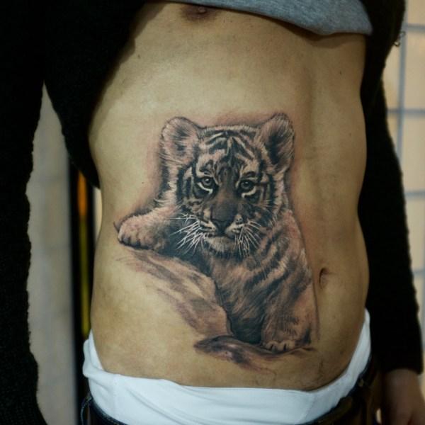 Zhuo-Dan-Ting-Tattoo-work-卓丹婷纹身作品-小老虎纹身