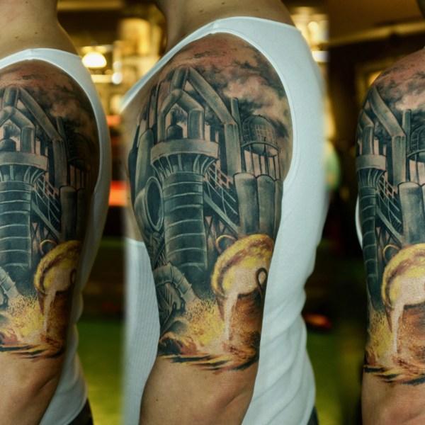Zhuo-Dan-Ting-Tattoo-work-卓丹婷纹身作品-钢铁厂纹身