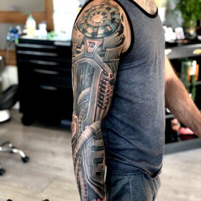 ting biomechanical shanghai tattoo sleeve folsom