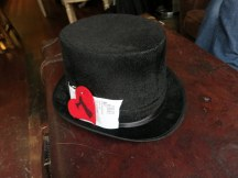Order numbers are kept secure by the black top hats.