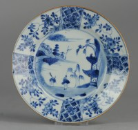 Antique Chinese Porcelain Blue And White Plates