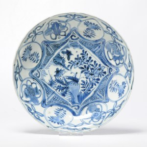 Rare! Antique ca 1600 Ming Chinese Porcelain Kraak Charger Birds Buttefly