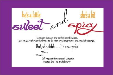 Sweet and Spicy Invitations