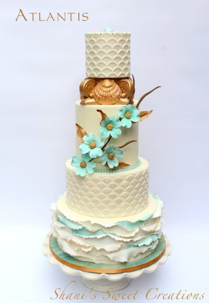 atlantis ocean themed wedding cake - publications