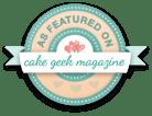 Cake Geek Magazine Badge