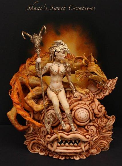 Dragon Priestess cake Threadcakes entry Shani Christenson