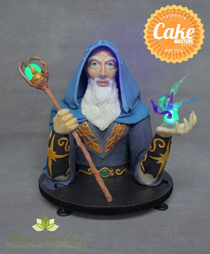 Merlin Wizard Sculpted cake