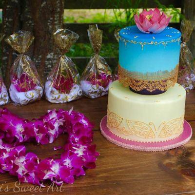 Ombre-Henna-Cake
