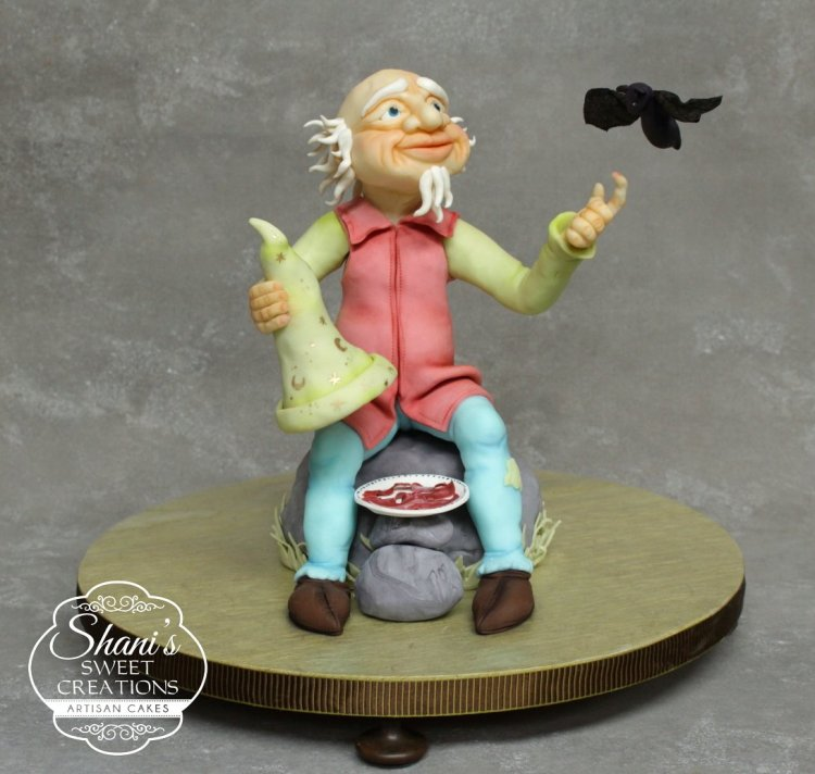 Old man and bat cake - publications