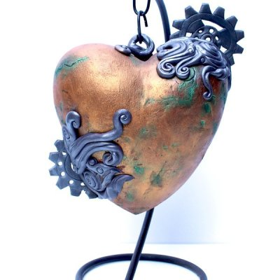 Steampunk Heart Cake