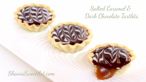 Chocolate caramel tartlets. Learn to make gorgeous mini tartlet shells
